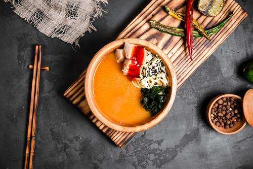 Суп Мисо с окунем кимчи